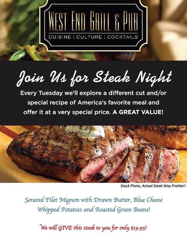 Still time to enjoy a great steak tonight! 🥩 🍷 🥩
