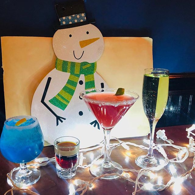 Serving up festive cocktails the WEGAP Way 🍸 ☃️ 🍹 Join us for happy hour 4pm-7pm