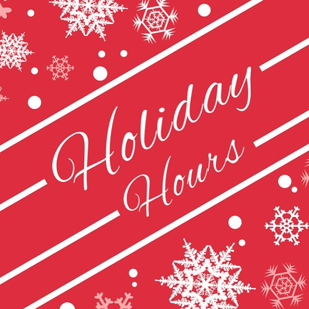 We're open Christmas Eve 11am-10pm, but closed on Christmas Day. Beginning on Dec. 26, we will have new winter hours! We will be open for dinner ONLY beginning at 4pm (no lunch service Mon-Fri). We are adding a Saturday brunch and continuing our popular Sunday brunch. Have a safe and happy holiday 🌲