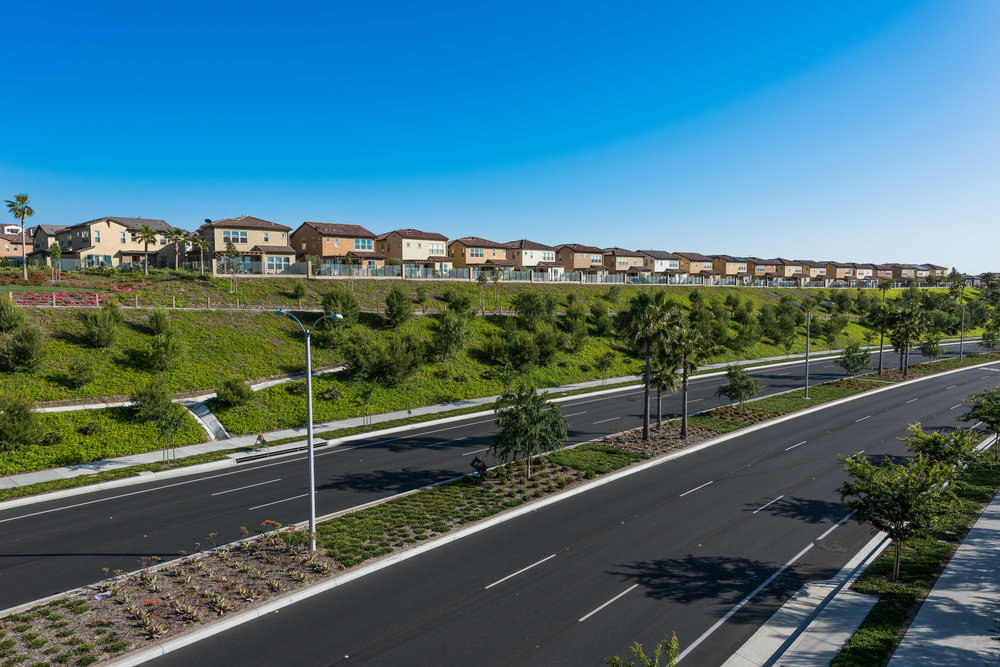 New Homes in the new commnity of Baker Ranch in Lake Forest, CA overlooking Alton Pkwy.
