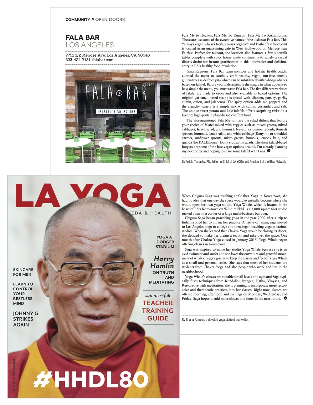 Report about Fala Bar / LA Yoga