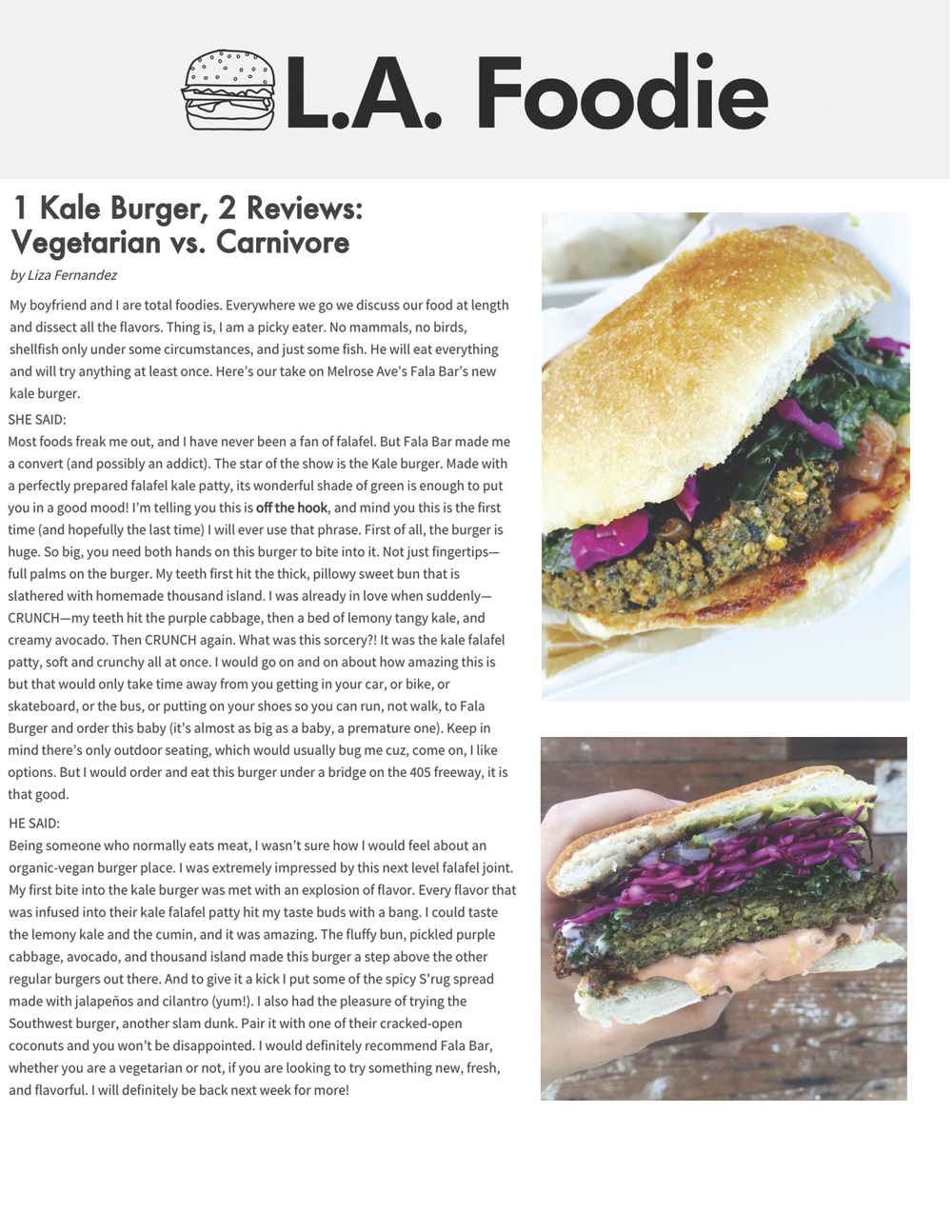Report about Fala Bar / L.A. Foodie