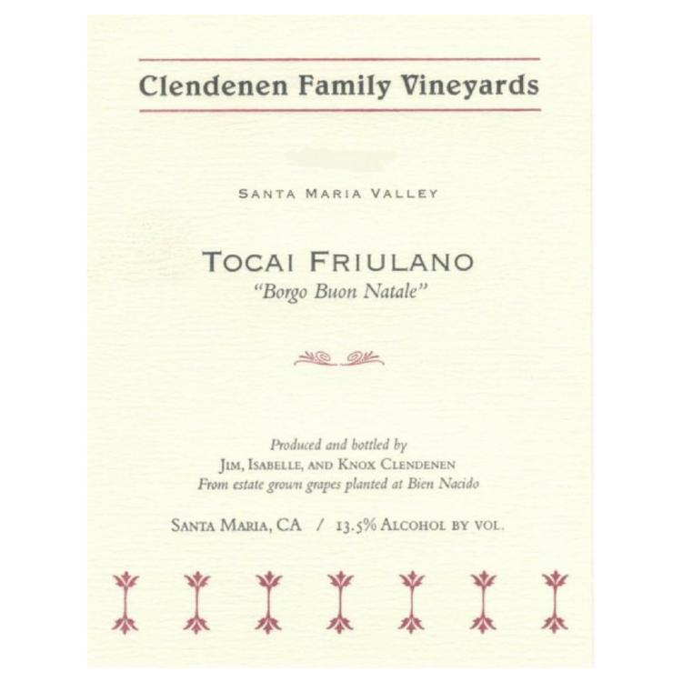 Clendenen Family Vineyards Tocai Friulano 2015 United States - $25