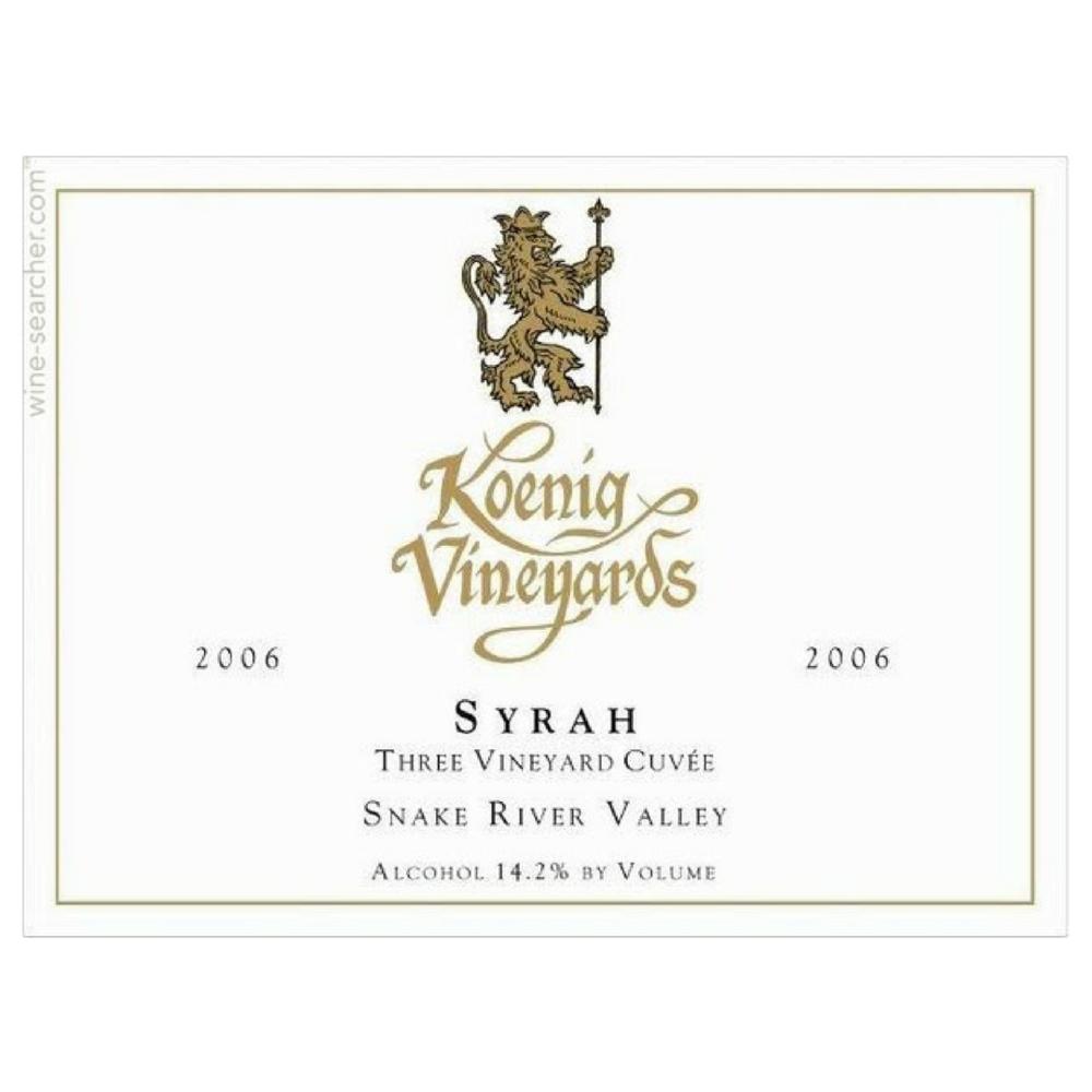 Koenig Three Vineyard Cuvée Syrah 2015  United States - $32