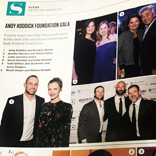 We know how to chronicle a good party! 📷 by @benporterphotography The 2017 @thearfoundation gala with clients #andyroddick and @brooklyndecker was a blast @acllive!  Guess which publicist is photographed at 2 parties on the same page?  Hint: it's @katiehammill
