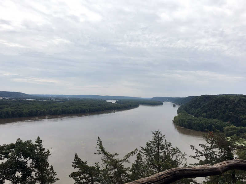 Fire Point overlooking the Mississippi