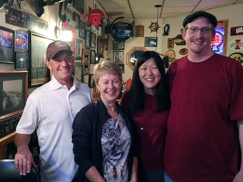 John, Sandy, Nancy and I at Pocket City Pub