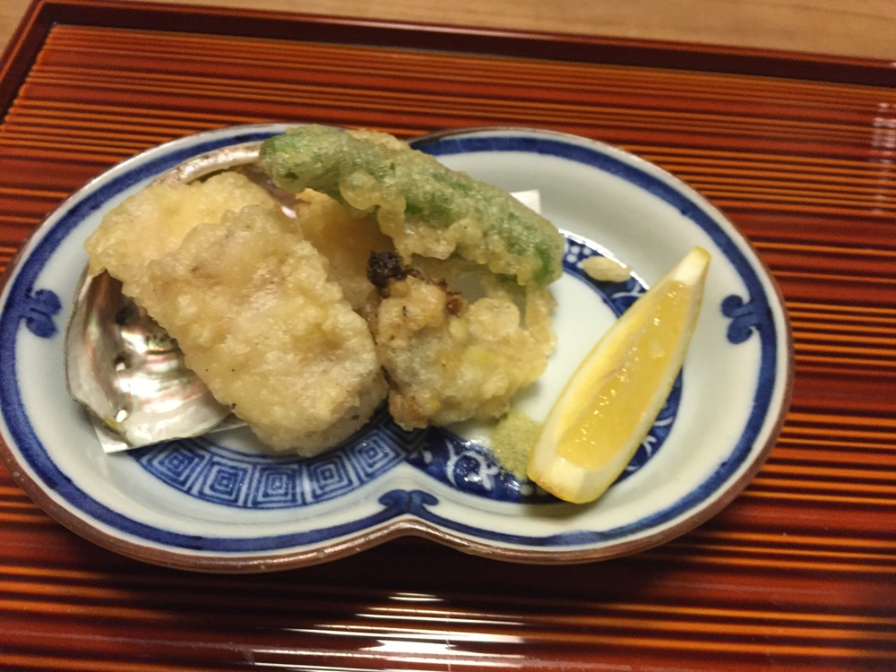 Abalone tempura (very rare dish)