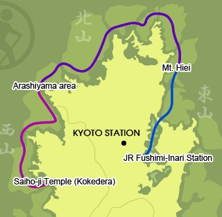 kyoto trail map