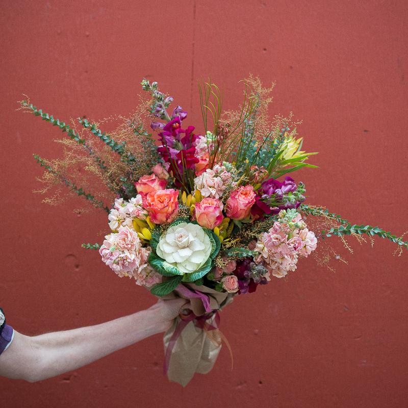 large flower bouquet subscription