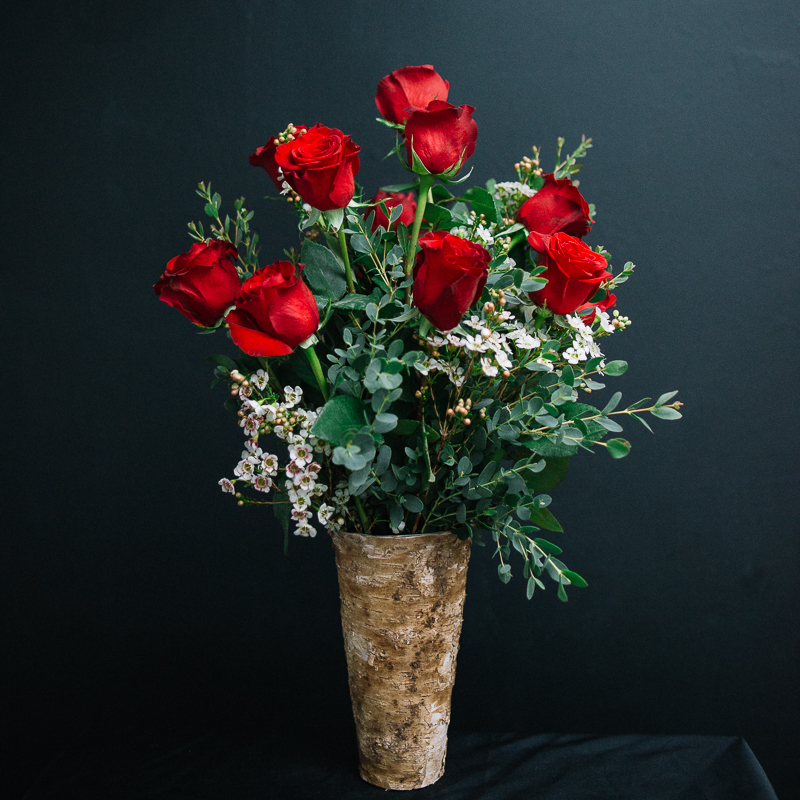 Mission de Flores | Dozen Red Roses - San Francisco Florist Valentine's Day
