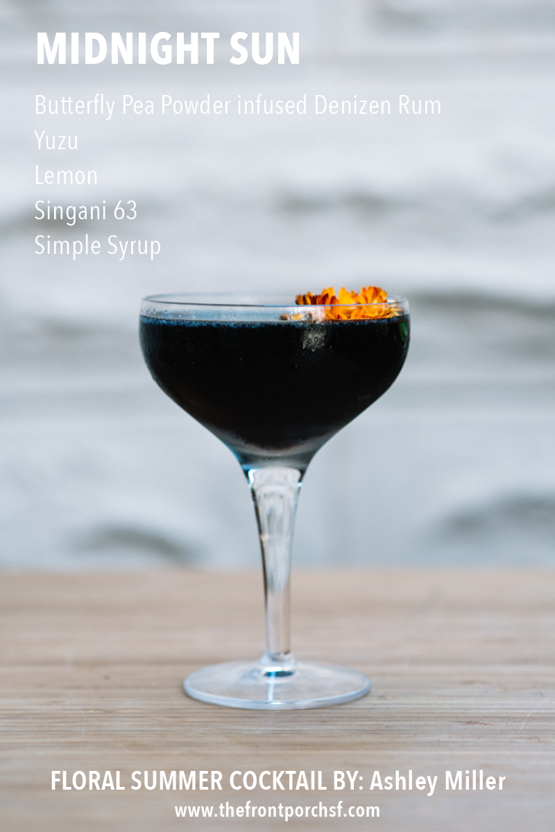 missiondeflores.com | Floral Summer Cocktail by The Front Porch SF