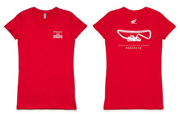 Women's red tee