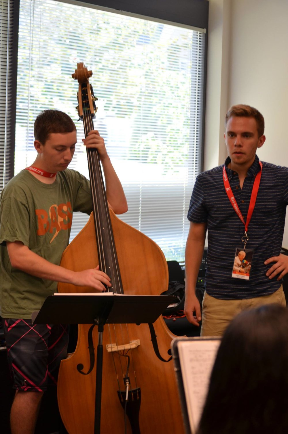 lookin' real california cool, teaching at the stanford jazz workshop (no, those aren't frosted tips)