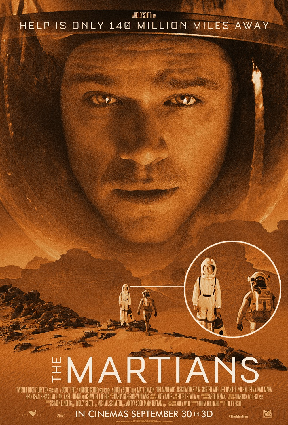 Mars is a lot of fun but Matt Damon and I are quite lonely up there though.