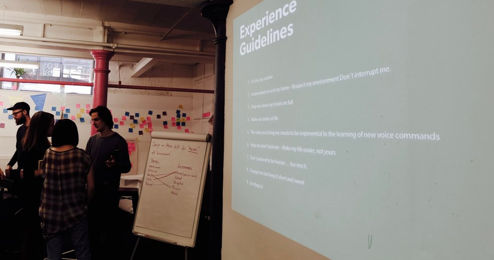 VUI Best practices workshop for Hyper Island, Manchester.