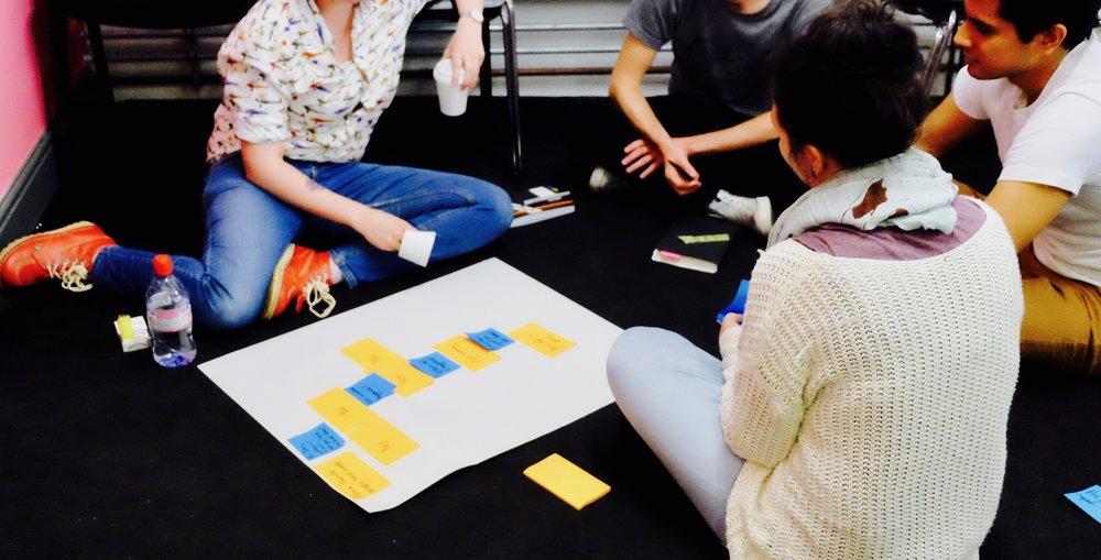 Workshop participants mapping out core conversations