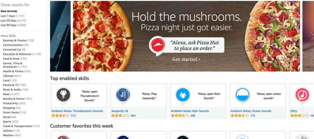 The UK Amazon Alexa Skill Store