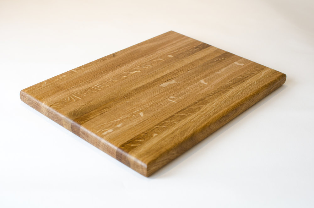 Solid Oak Chopping Board made from offcuts sold on etsy made in sheffield
