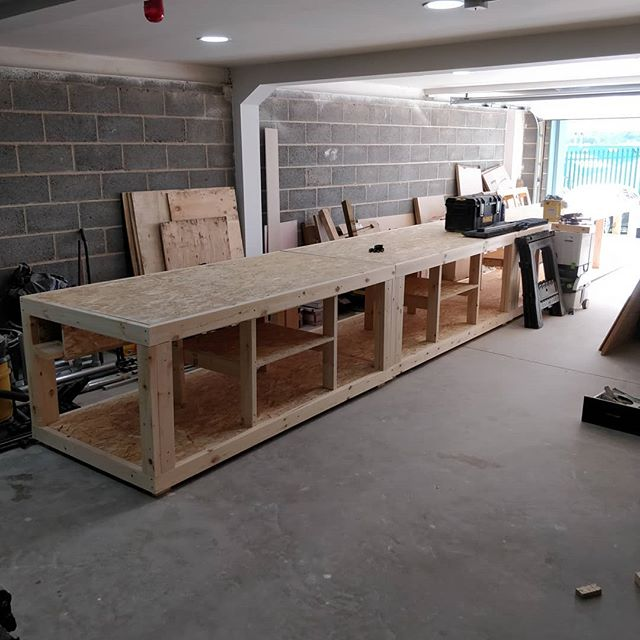 Excited to get our new workshop up and running! Getting these custom workbenches in. #sheffield #socent #socialenterprise #woodworking #workshop #maker #nofilter