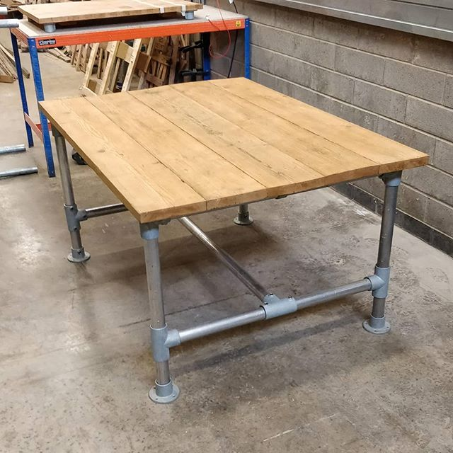 Made to order dining table or office table via our website tuffcycle.org/our-products  We make the tables from reclaimed scaffolding and finish to your preference! Get in touch for more information.  #socialenterprise #socent #buysocial #businessforgood #profitwithpurpose #sheffield #southyorkshire #handmade #bespoke #reclaimedmaterials #reclaimed #reclaimedwood #reclaimedfurniture #reuse #furniture #furnituredesign #office #diningroom #dining #madetoorder #workshop #wood #woodworking #woodwork #industrial #interiordesign #sustainable #sustainableliving #meeting #officedesign