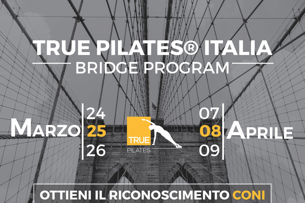 true pilates italia bridge program riconoscimento coni