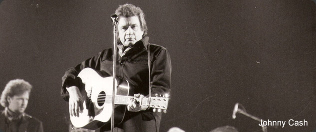 Touren met Johnny Cash in de jaren '90.