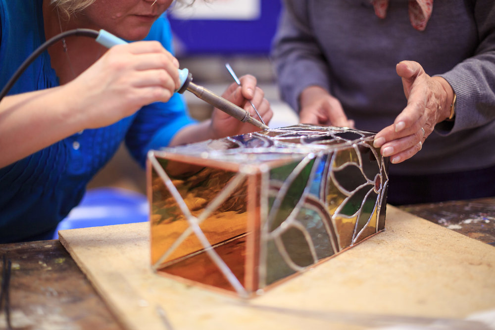 Stained glass courses at New Brewery Arts