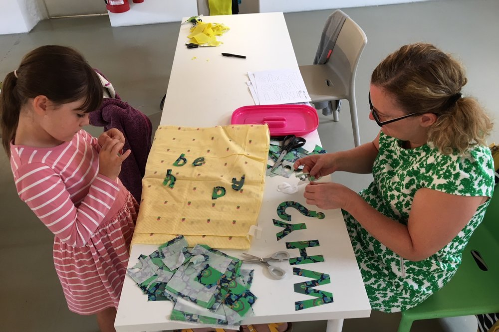 Bannermaking workshop as part of Banner! exhibition 2018