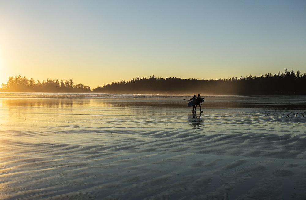 Surfers in Tofino