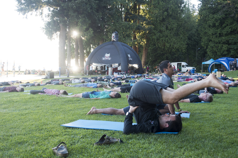 Yoga in Powell River at BC Bike Race