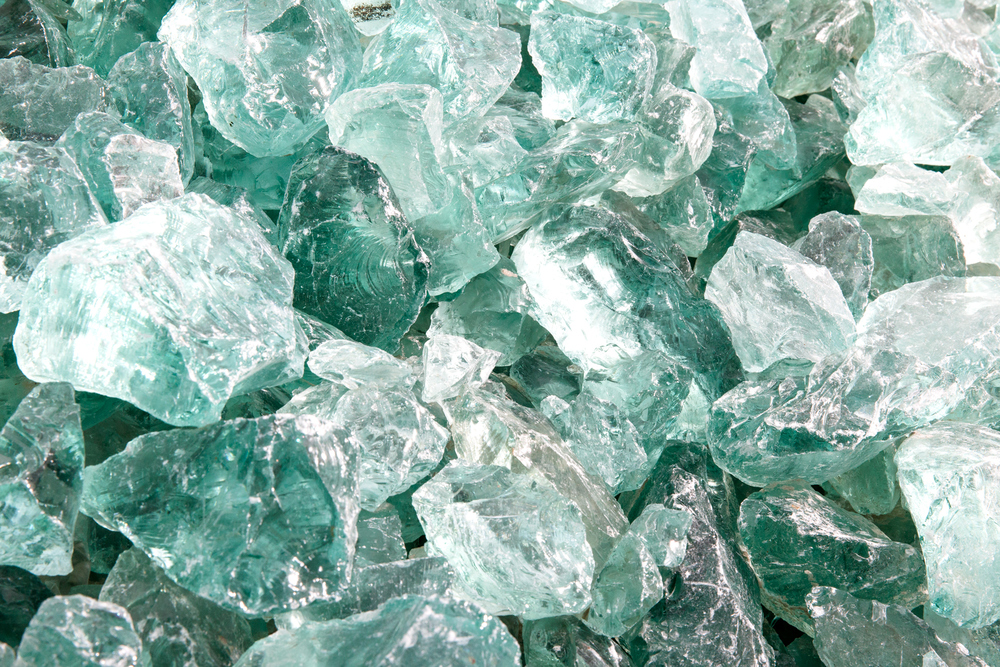 Glas Recycling / Closeup