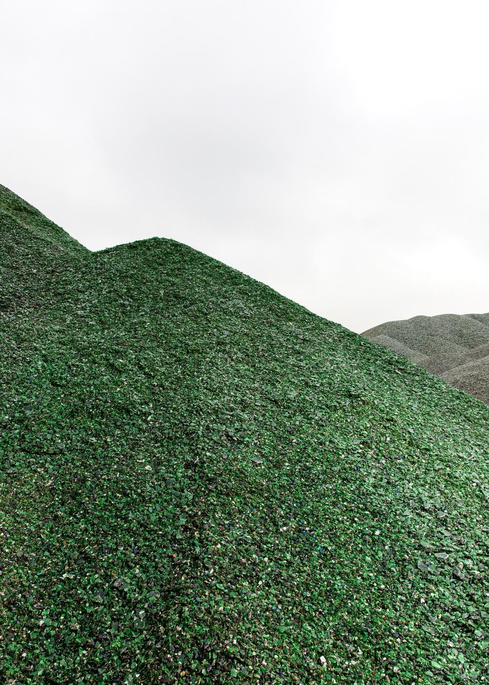 Glas Recycling / Glasberg