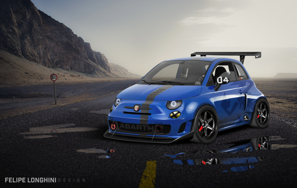 Blue Fiat 500 Abarth by Felipe Longhini Design.png