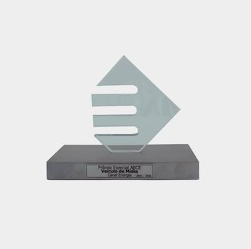 Prêmio Especial ABCE – 70 anos Prêmio entregue pela Associação Brasileira de Concessionárias de Energia Elétrica na ocasição da comemoração de seus 70 anos
