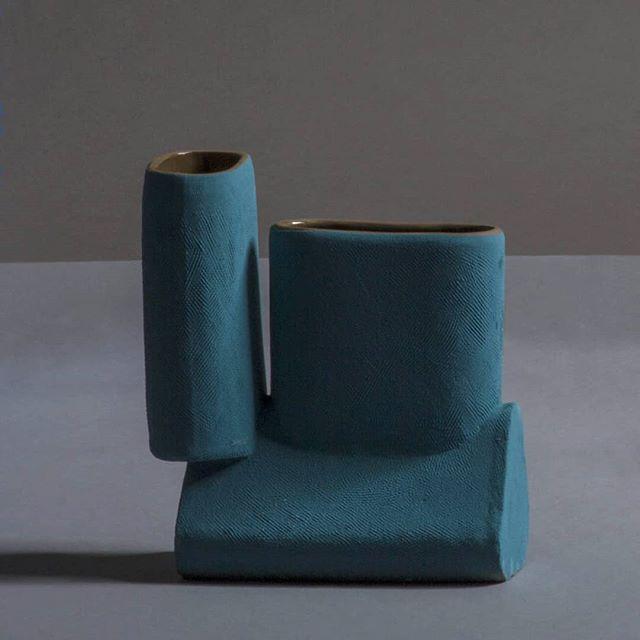 Vase from the 'Enkidu Collection' - Glazed Stoneware - 2018 . . . . . . . #vase #ceramic #ceramics #ceranicvase #stoneware #handbuilt #art #design #fineart #sculpture #contemporarydesign #contemporaryart #primitive #brutalism #primitivebrutalism #texture #color #architecture #archeology #interiordesign #interiordecoration