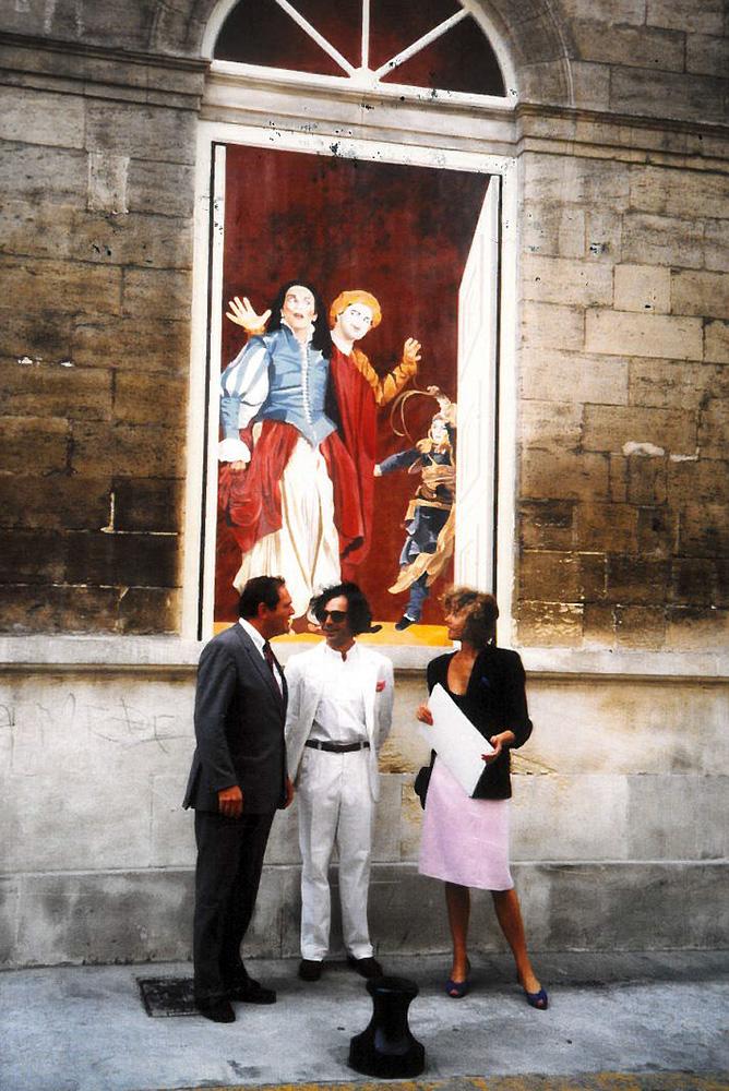 Inauguration des premières fenêtres avec Marion, Dominique et le maire de l'époque JP Roux