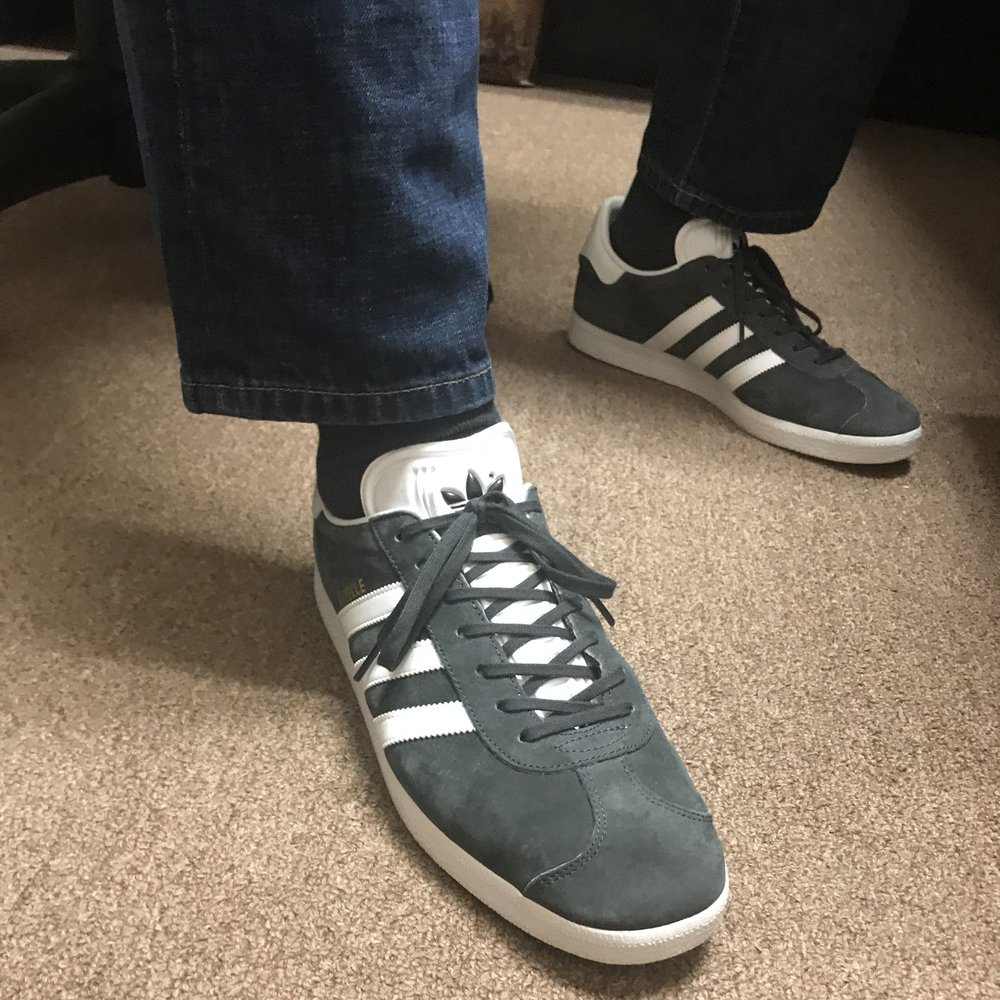 When I realized I could dress casually at Huddle, I had to have them again.  I have never had the chance to wear sneakers to work until now.