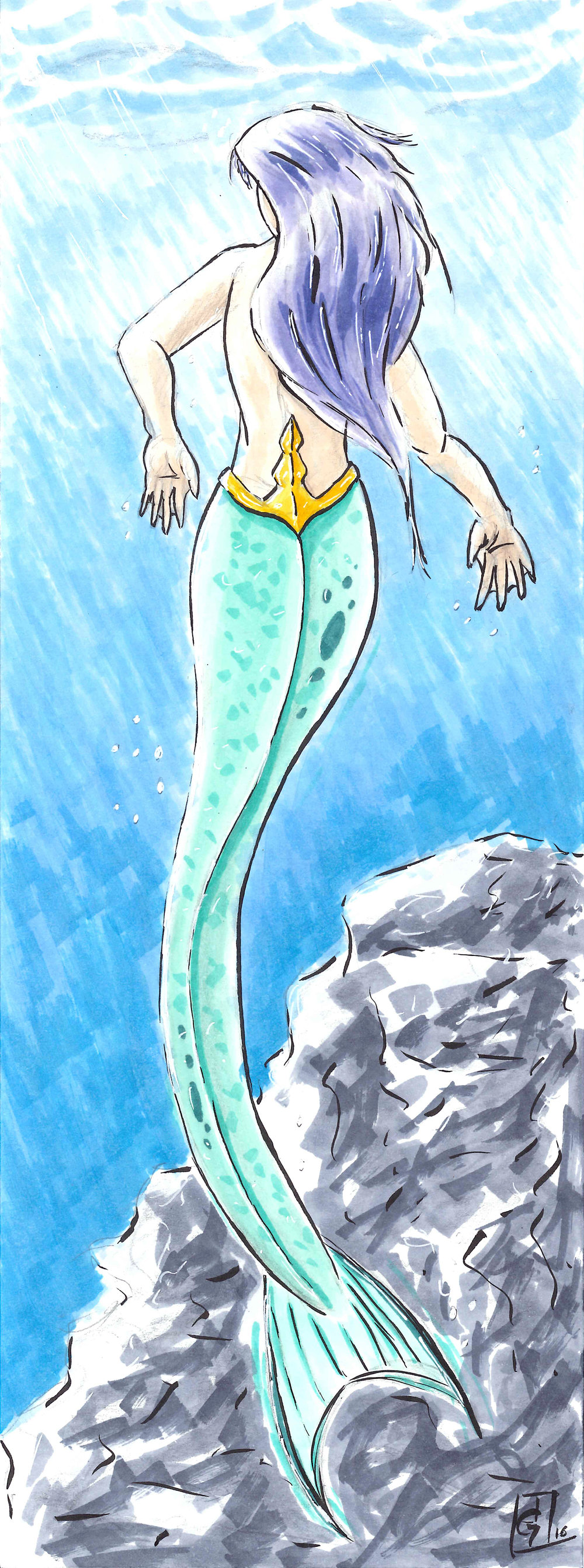 Surfacing Mermaid