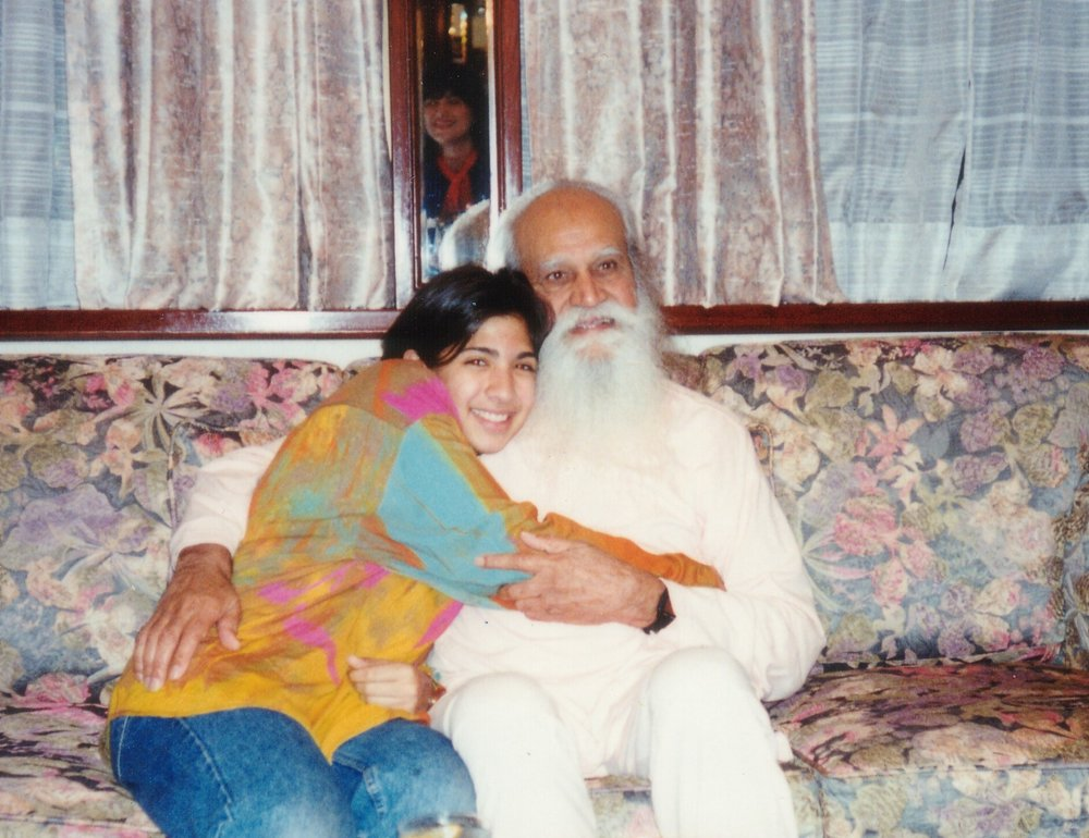 Hersha with her Beloved Swamiji.jpg
