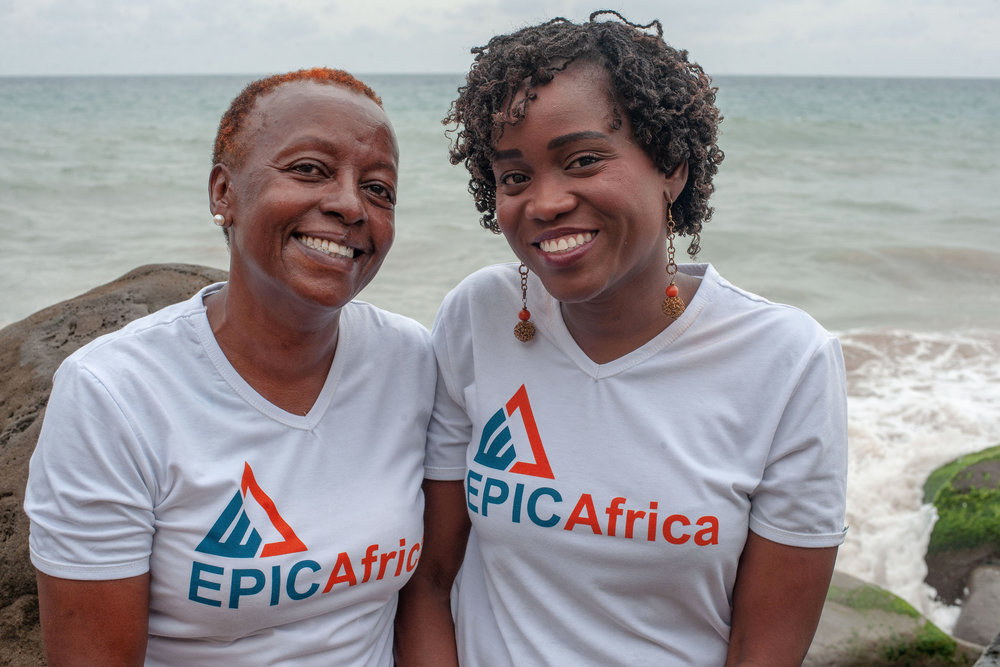 EPIC-Africa was founded by Rose Maruru and Adwoa Agyeman who have over 25 years experience in grantmaking and developing strategies to boost organizational effectiveness in Africa.