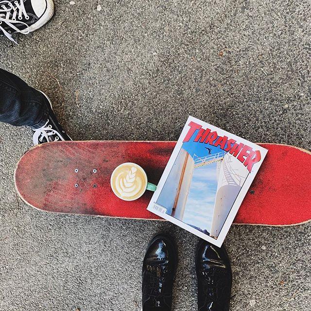 #skate #coffeetime #strasher