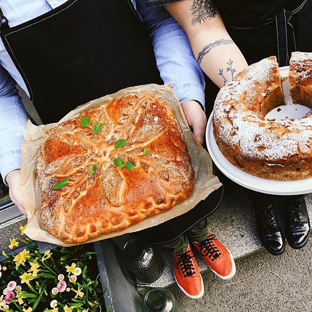 Dnes na kozej: Višňový Пирог a viedenská jablková bábovka s tvarohom.