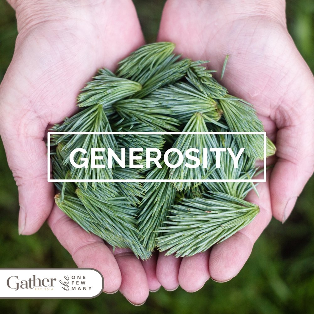 God's extravagant generosity was given to us freely and abundantly in Christ.