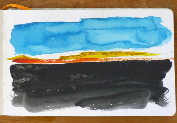 Sketch for future encaustic - Watercolor -  Ted Warchal