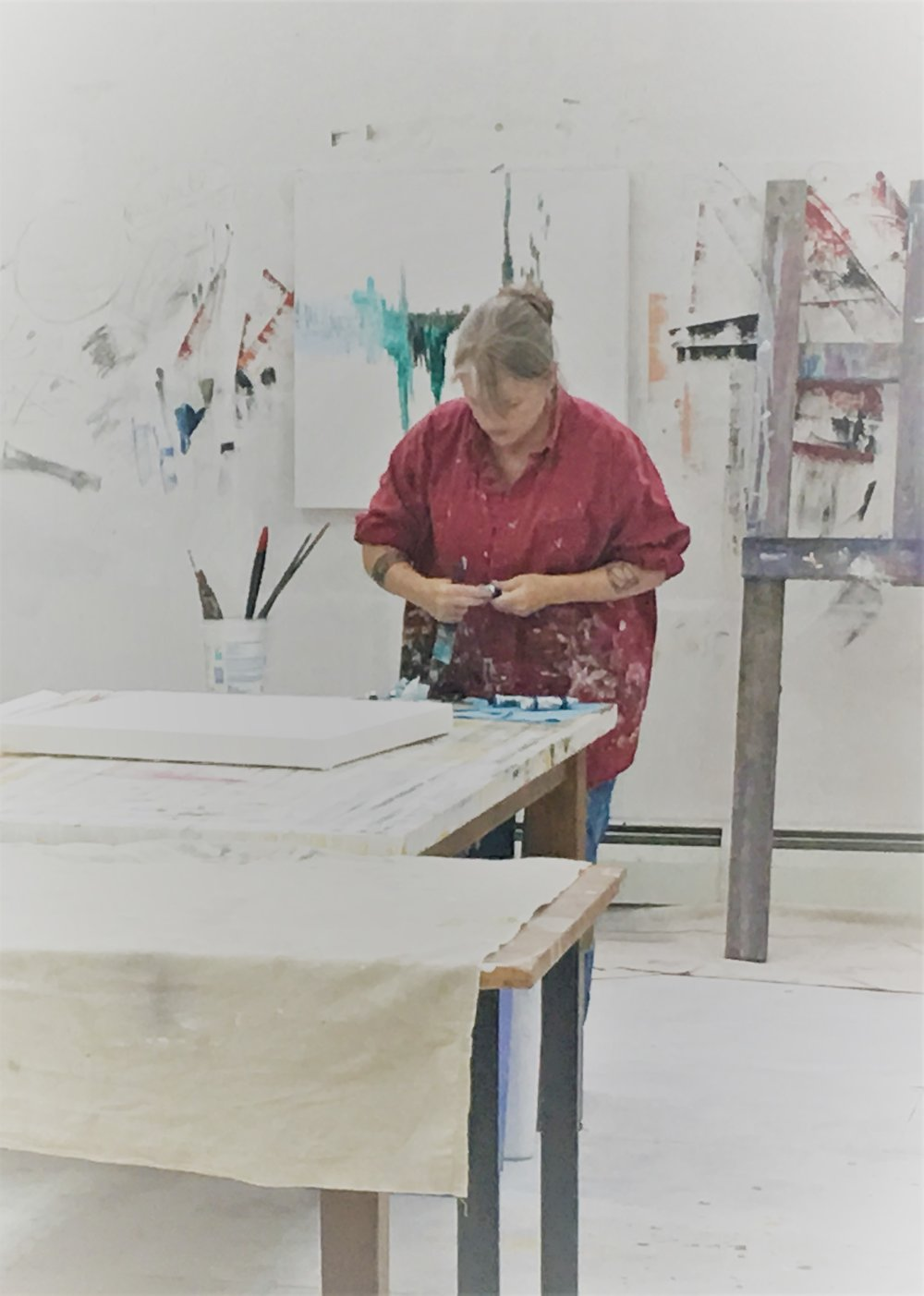 Martha in the studio
