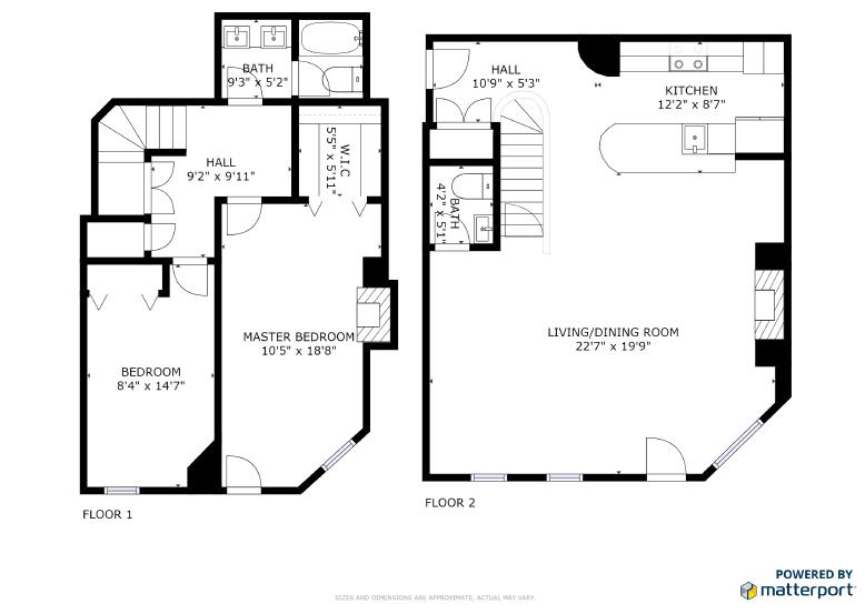 285 Beacon St, #1C, Boston, Combined Floorplan.PNG