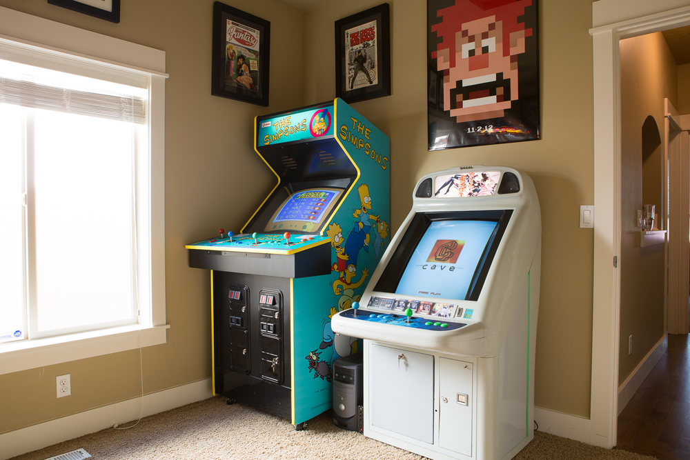 My game room in Boise, Idaho.
