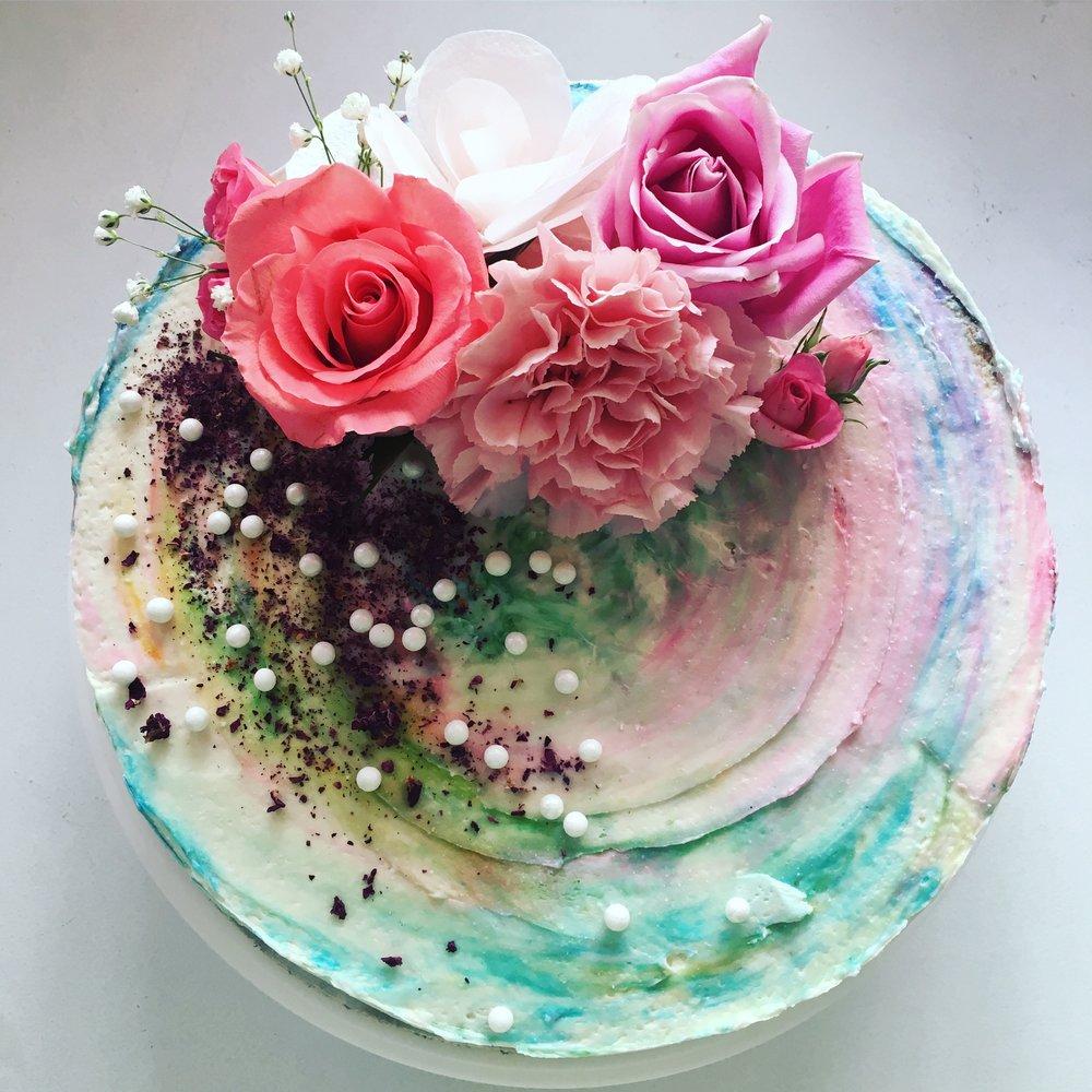 Jasmine and Vanilla Birthday Cake