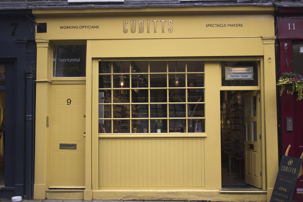 Cubitts Glasses Borough shop front